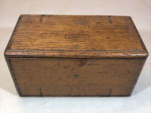 Antique Singer Sewing Machine 1889 Dated Oak Puzzle Box Burgundy Velvet Cloth