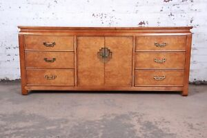 Century Furniture Hollywood Regency Chinoiserie Burl Wood Credenza