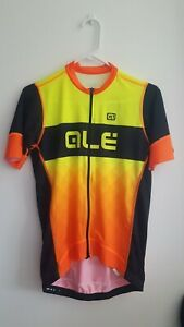 Ale Rumbles R-EV1 Orange Black Cycling Jersey-Size Large