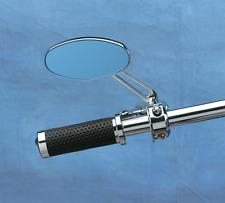 One Drag Specialties Chrome Blue Sapphire Oval Stealth Mirror W/Stem Harley HD
