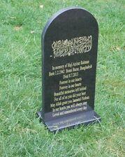 Muslim-Arabic-Memorial Plaque headstone-Granite -Islamic-Grave Stone- Engraved