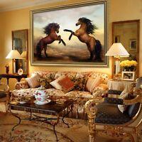 3D Pferd Stehend 69 Gerahmt Poster Daheim Dekor Drucken Malerei Kunst AJ