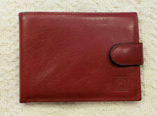 Rolex Bifold Wallet Red Leather Gold Crown Logo 60.02.03 NWOT