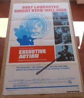 Executive Action Movie Poster, Original, Folded, One Sheet, year 1973, U.S.A.