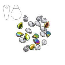 Preciosa tchèque verre pip ™ perles de rocaille 7mm crystal vitrail pack de 20 (M28/2)
