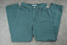 High Sierra Women's Vintage Relaxed Fit Tapered Leg Green Jeans Size 10A Average
