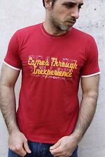Napapijri Homme à Manches Courtes Tee Rouge Casuals T-shirt coton auth S Small