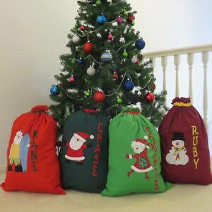 JUMBO SIZE PERSONALISED CHRISTMAS / SANTA SACKS - 80 cm x 100 cm -