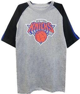 New York Knicks NBA Majestic Mens Big Logo Raglan Shirt Big And Tall Sizes