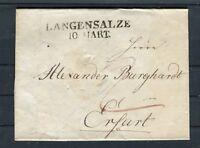 Vorphila Beleg inkl. Inhalt Langensalze-Erfurt - b5414