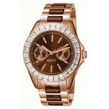 Esprit Marken Uhr Damenuhr Armbanduhr ES105772005 (40 mm) Braun Metall