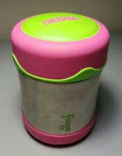 THERMOS FOOGO Vacuum Insulated Stainless Steel 10 oz Food Jar, Pink/Lime Green