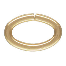 25pc, 14kt Gold Filled Oval Open Jump Rings, 5.5mm Open Rings, 20gauge Wire
