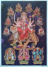 "Durga Maa Avatars, Kali Saraswati Lakshmi - Normal Paper POSTER (Size: 5""x6.5"")"