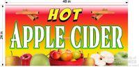SALE TODAY!  2' X 4' VINYL BANNER  HOT APPLE CIDER NEW GRAPHICS