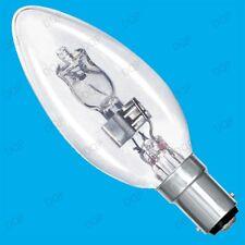10x 28w (= 40w) Transparente Regulable Halógeno Vela Bombilla de Bajo Consumo