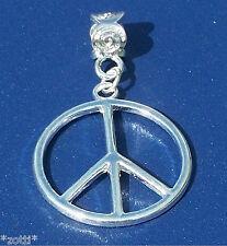 Ketten Anhänger Peace Frieden Symbol Kettenanhänger Pendant Farbe silber