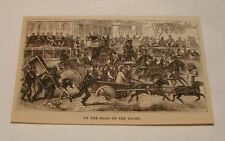 1879 magazine engraving ~ On The Road To The Races