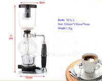 Salton Dual Coffee Maker : TCA-2 Siphon Coffee Pot Glass Coffee Equipment Vacuum Brew Stove Maker 2 Cups eBay