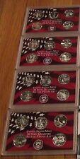 2000 01 02 03 U.S. Mint 4 Silver Quarter Proof Set No Box/COA San Francisco