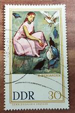 Briefmarke DDR 30 Pfennig Ölgemäldegalerie Dresden R.Bergander Gestempelt