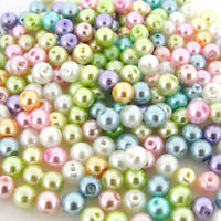 Mixed Colourful Glass Faux Pearl Round Loose Spacer Beads Finding 4/6/8/10/12mm