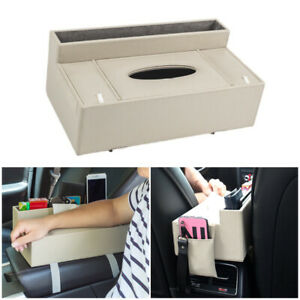 Car Armrest Pad Heightening Cushion Cover Center Console PU-Leather Storage Mat