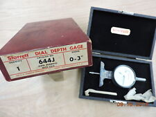 Vintage Starrett Dial Depth Gage No. 644J
