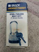 Steel Padlock Brady Heavy Duty 2inch 51mm shackle
