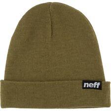 Neff Ryder Sailor Knit Beanie Hat Olive Green