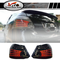 Smoked LED Tail Lights Rear Lamps For Toyota Yaris NCP93 2007-2011 Sedan Pair