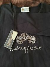 Christine Alexander  Bling dice girls night out Black shirt  Sz XL nwt