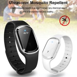 Bracelet Anti-Moustique à Ultrasons ImperméAble Pour Les Parcs De Plages G1J9