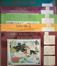 New Sealed Adult Coloring Book Color Me Your Way - Lot of 5 Books - Entire Set!