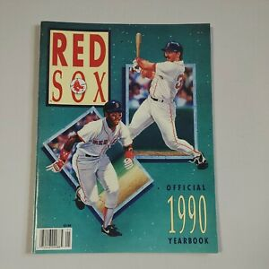 1990 Boston Red Sox Official Program Yearbook New Condition Ellis Burks