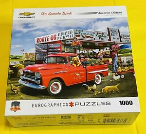 Eurographics Jigsaw Puzzle The Apache Truck '59 Chevy 1000 Pieces 💯!