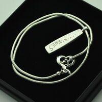 21st 2000 Millennium Matte Brushed Pendant & Necklace 925 Silver & Gold Detail