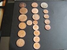 More details for nice selection of uk (14) + usa (4) coins dating from 1771-1983 from f-ef con!
