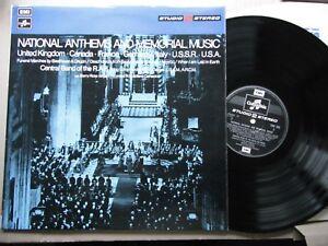 NATIONAL ANTHEMS & MEMORIAL MUSIC RARE LP STUDIO 2 STEREO  & INNER 1971 N/MINT