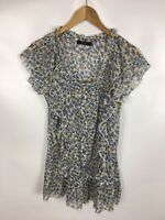 ZERO Bluse, Blusenshirt, mehrfarbig geblümt, transparent, Größe 40