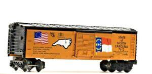 Vintage Lionel State of North Carolina Boxcar Spirit of '76 6-7612 Orange