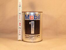 Vintage MOBIL 1 Mini Oil Quart Can Promotional Coin Bank Mobil Oil Advertising