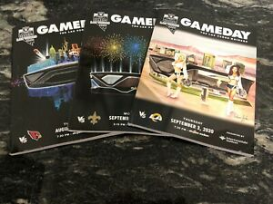 2020 Las Vegas Raiders 3 Game Program Bundle: Saints, Rams, Cardinals