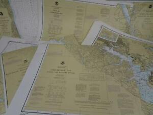 Lot 11 Maryland MD NOAA Nautical Navigational Maps Charts 1980s