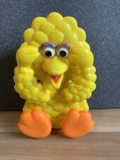 "Vintage Tyco Preschool Peek a Boo Wind Up Big Bird Musical Toy Sesame Street 6 """