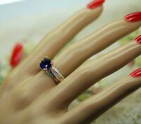 Art Deco Antique Jewellery Rose Gold Blue Sapphires Vintage Jewelry