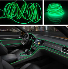 Interior LED Wire Strip Diy Green Light 4M For Car Auto Universal Fit Atmosphere