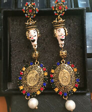 BLOGGERS FAV ANTHROPOLOGIE BAROQUE LOOK 3 3/4'' ROYAL DROP DANGLE EARRINGS - NEW