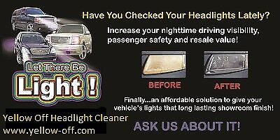Yellow Off Headlight Cleaner
