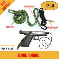 Bore Snake .22 Cal Rifle Shotgun Pistol Cleaning Kit Boresnake Gun Brush Cleaner